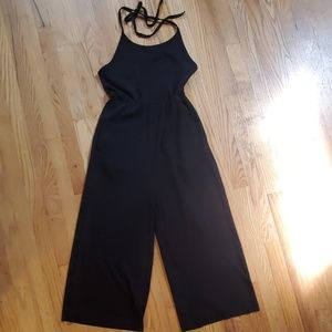 Urban Outfitters ribbed wideleg halter jumpsuit